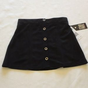 Star Ride Girls Size 6 Black Skirt Faux Suede